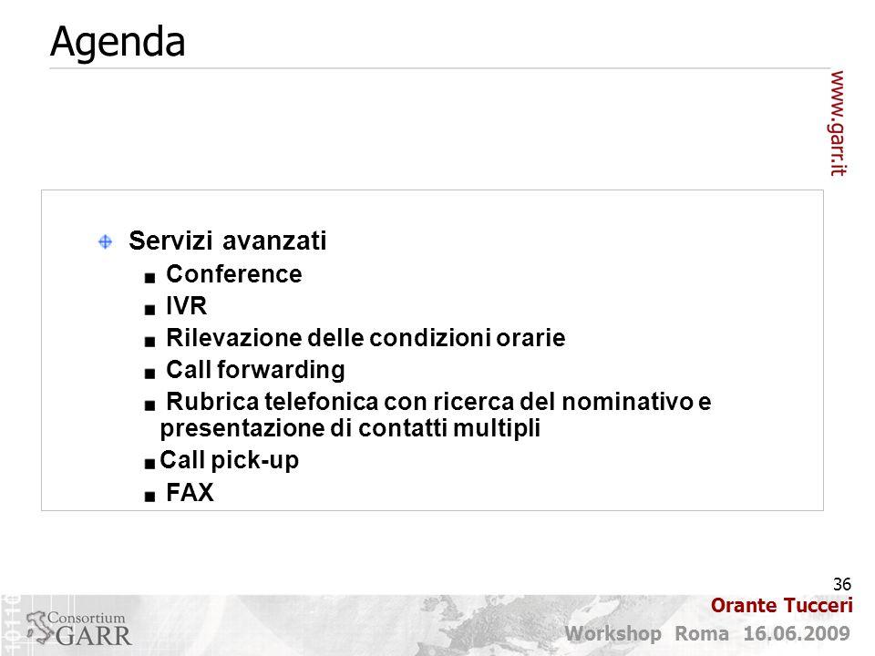 Agenda Servizi avanzati Conference IVR