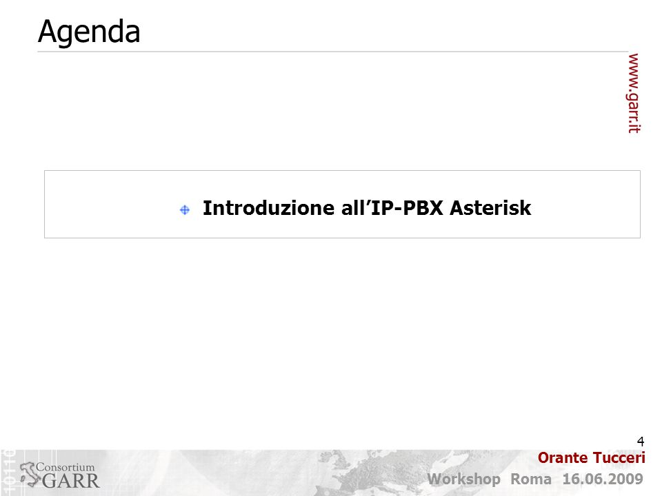 Introduzione all'IP-PBX Asterisk