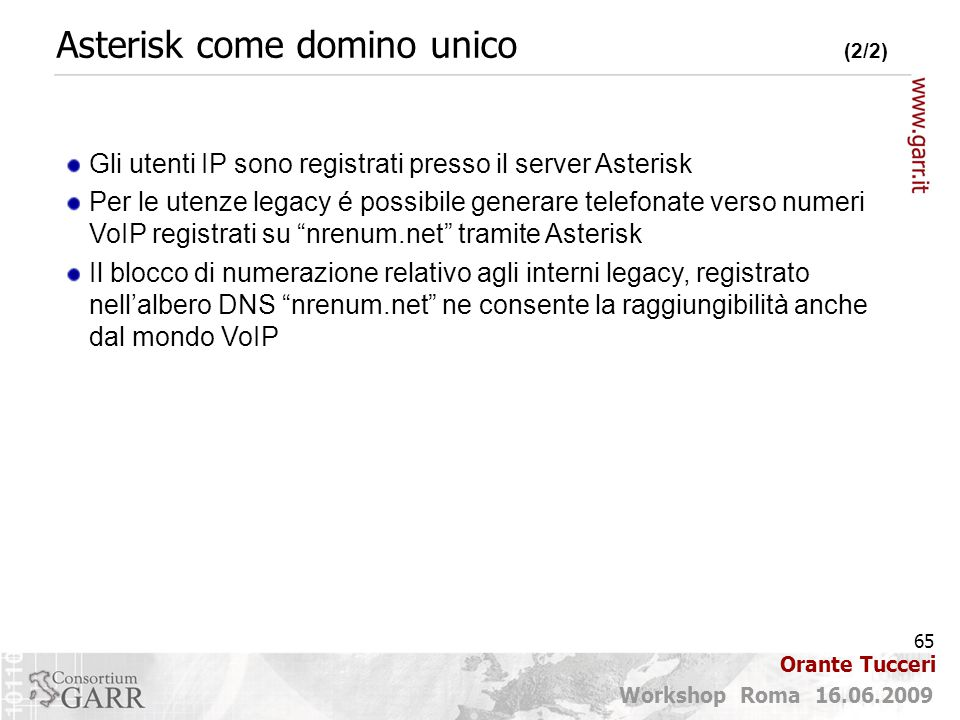 Asterisk come domino unico (2/2)