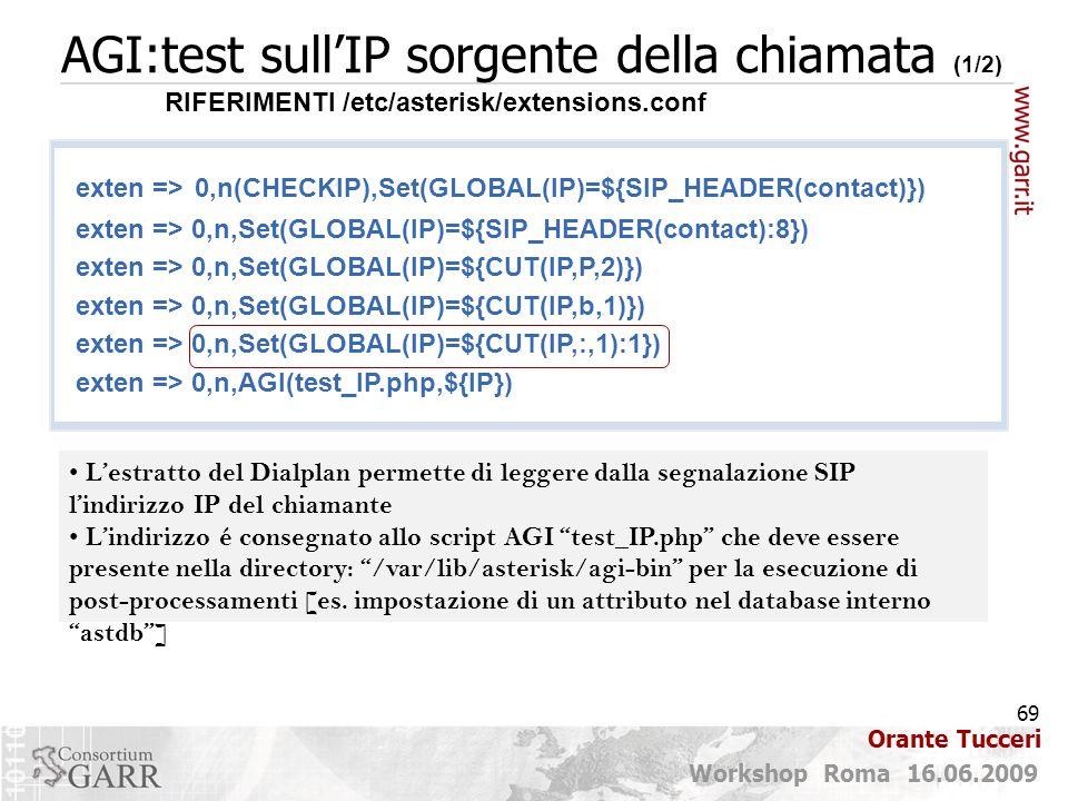 AGI:test sull'IP sorgente della chiamata (1/2)