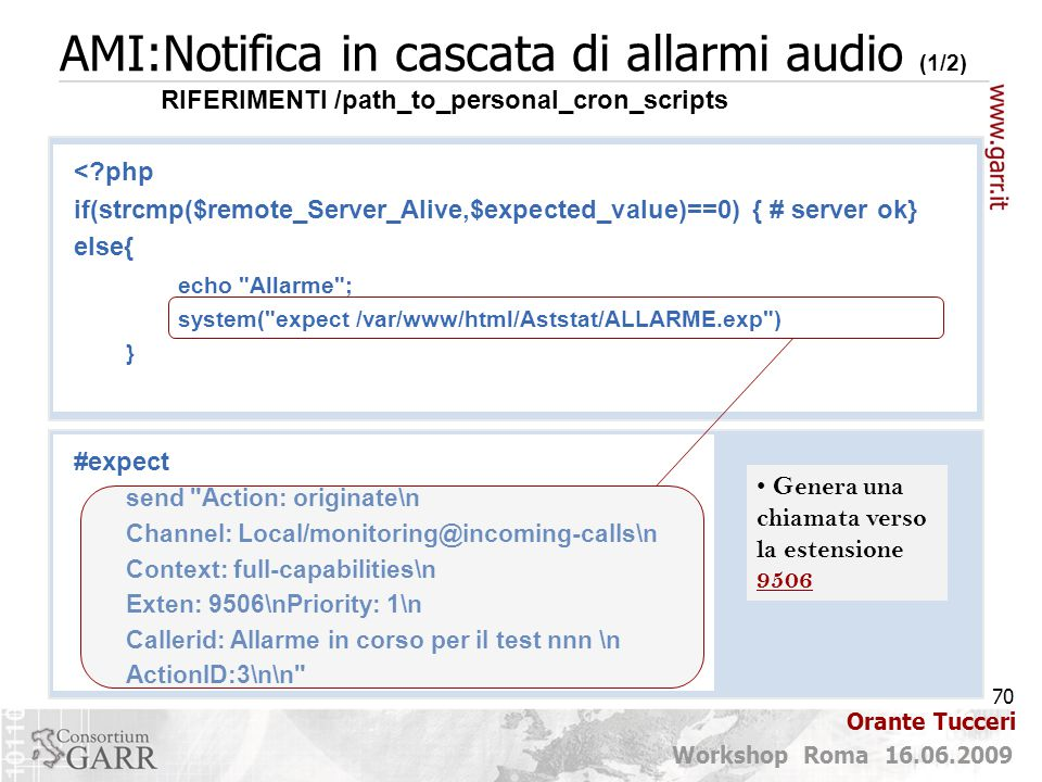 AMI:Notifica in cascata di allarmi audio (1/2)