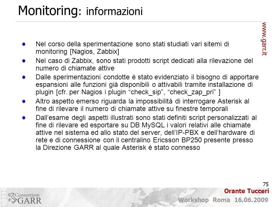 Monitoring: informazioni