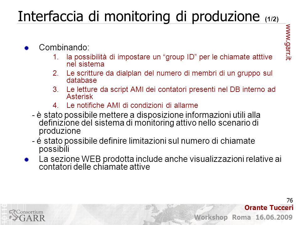 Interfaccia di monitoring di produzione (1/2)
