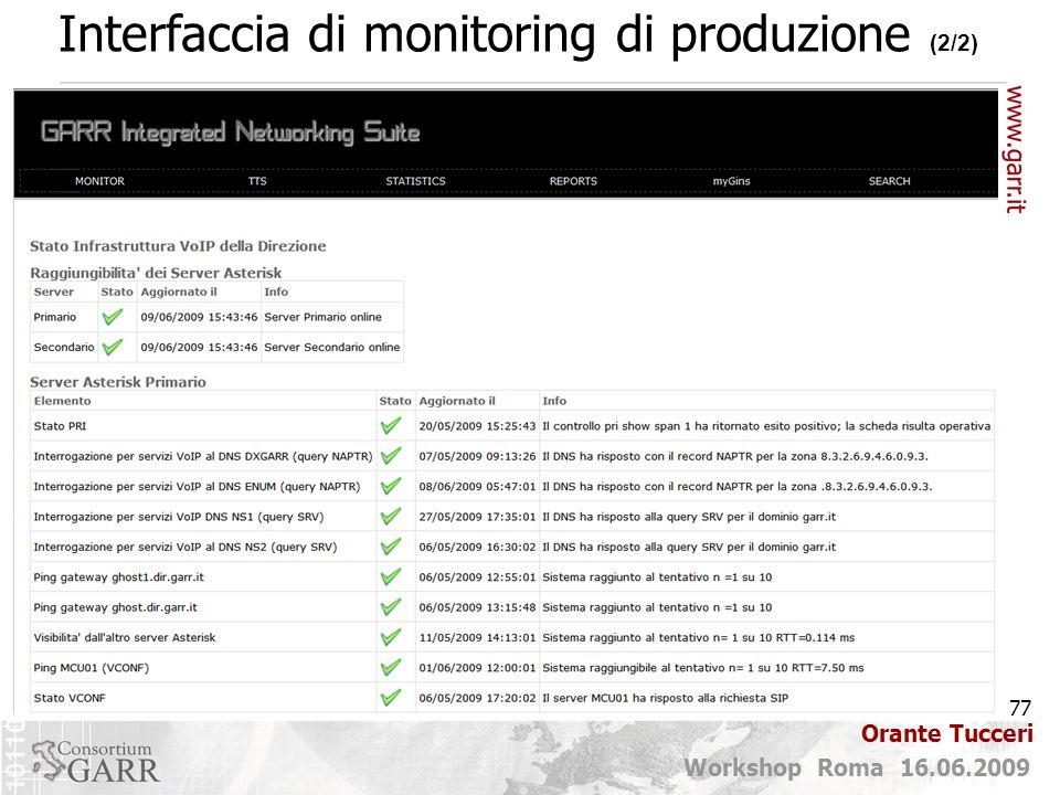 Interfaccia di monitoring di produzione (2/2)