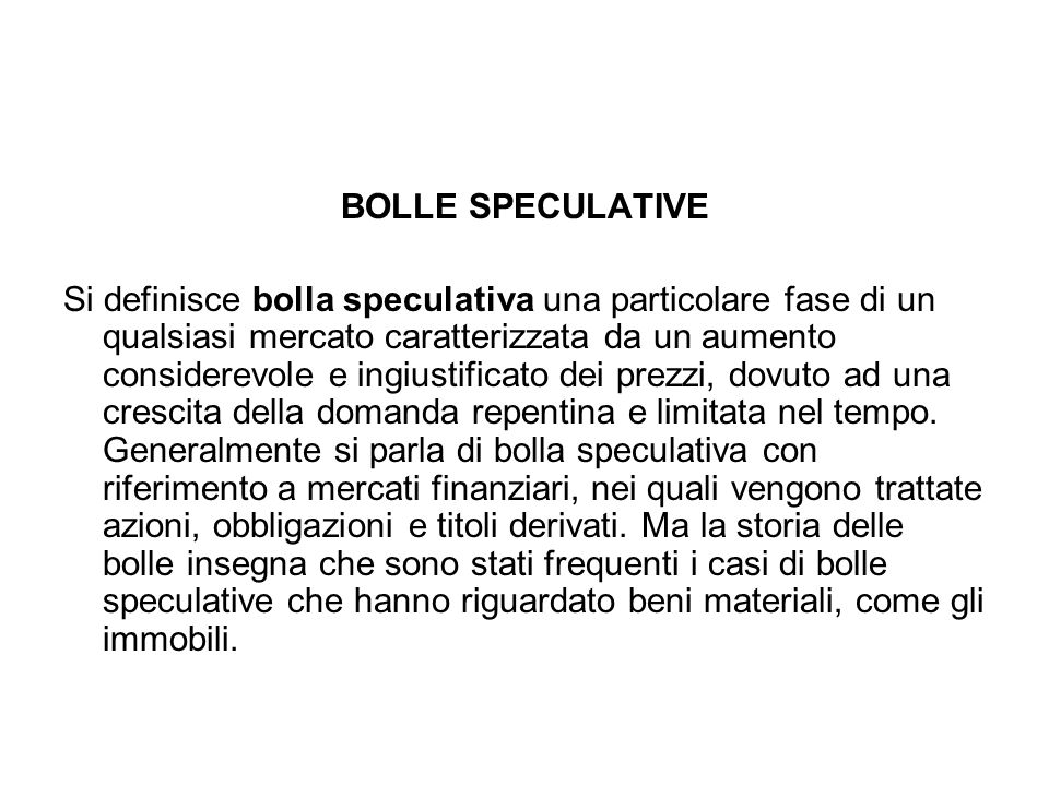 BOLLE SPECULATIVE