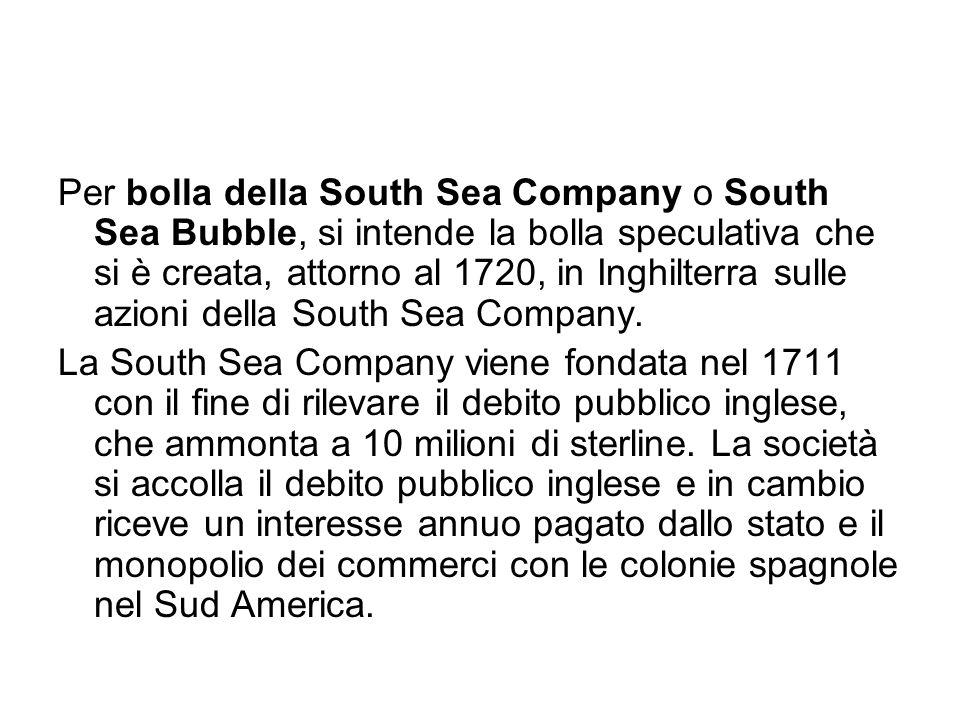 Per bolla della South Sea Company o South Sea Bubble, si intende la bolla speculativa che si è creata, attorno al 1720, in Inghilterra sulle azioni della South Sea Company.