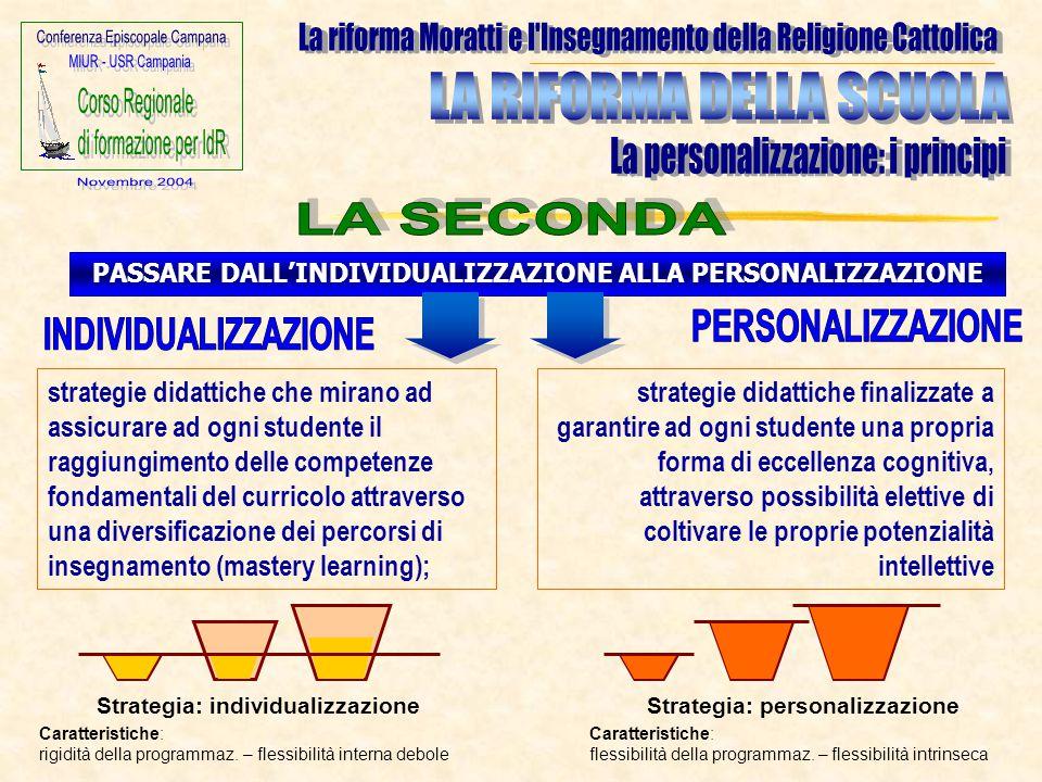 PASSARE DALL'INDIVIDUALIZZAZIONE ALLA PERSONALIZZAZIONE