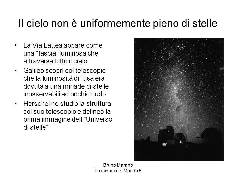 Il cielo non è uniformemente pieno di stelle