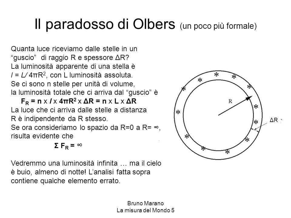 Il paradosso di Olbers (un poco più formale)