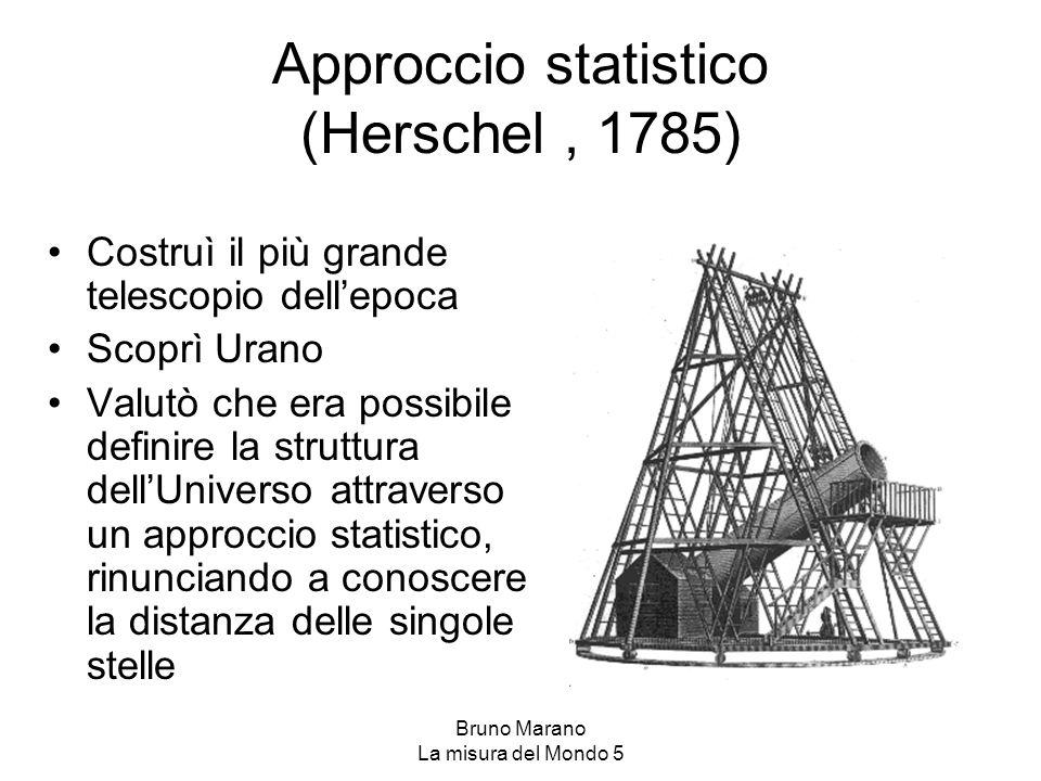 Approccio statistico (Herschel , 1785)