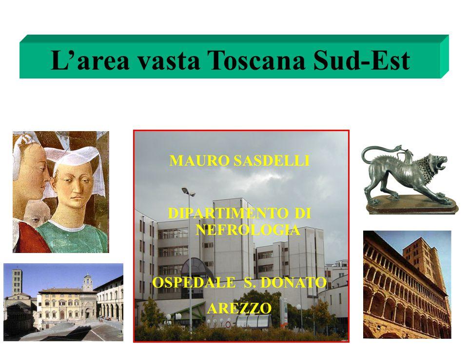 L'area vasta Toscana Sud-Est DIPARTIMENTO DI NEFROLOGIA