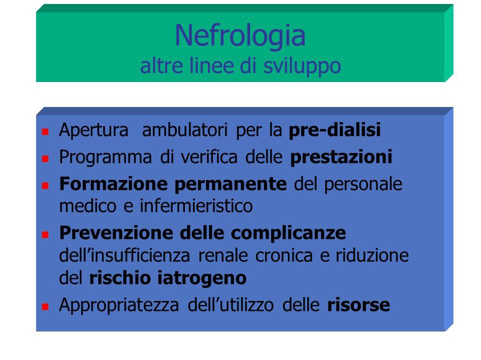 Nefrologia altre linee di sviluppo