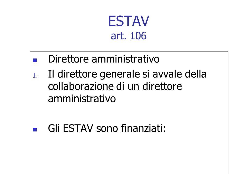ESTAV art. 106 Direttore amministrativo