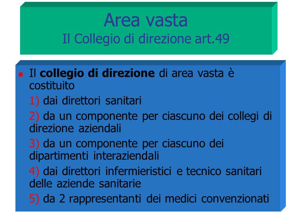Area vasta Il Collegio di direzione art.49