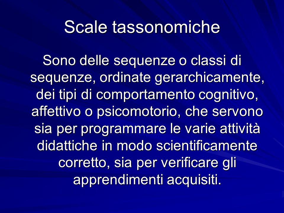 Scale tassonomiche