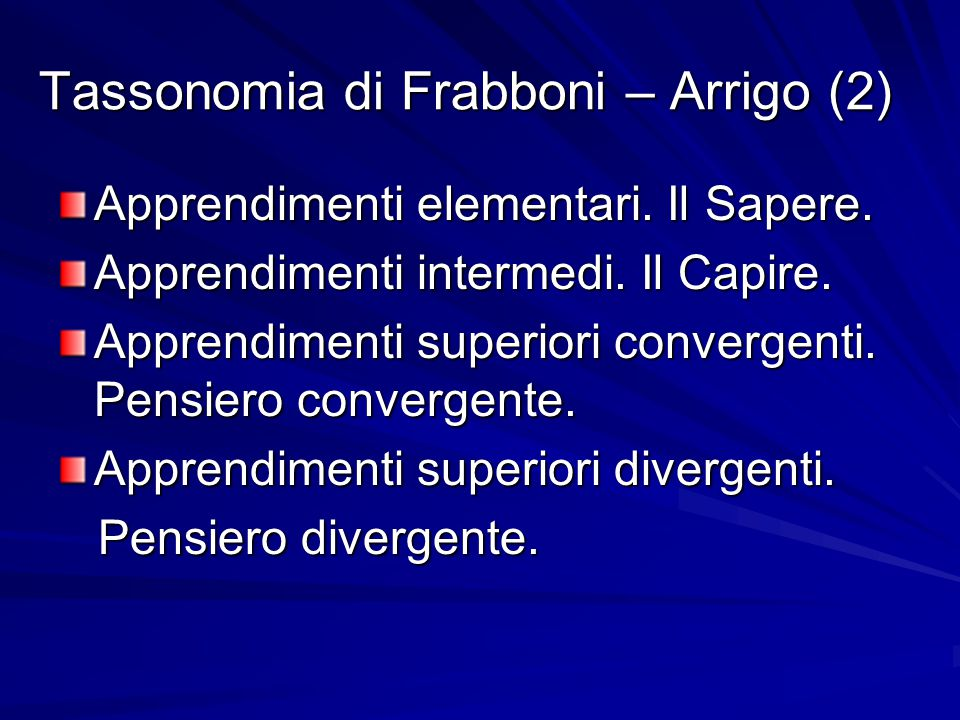 Tassonomia di Frabboni – Arrigo (2)