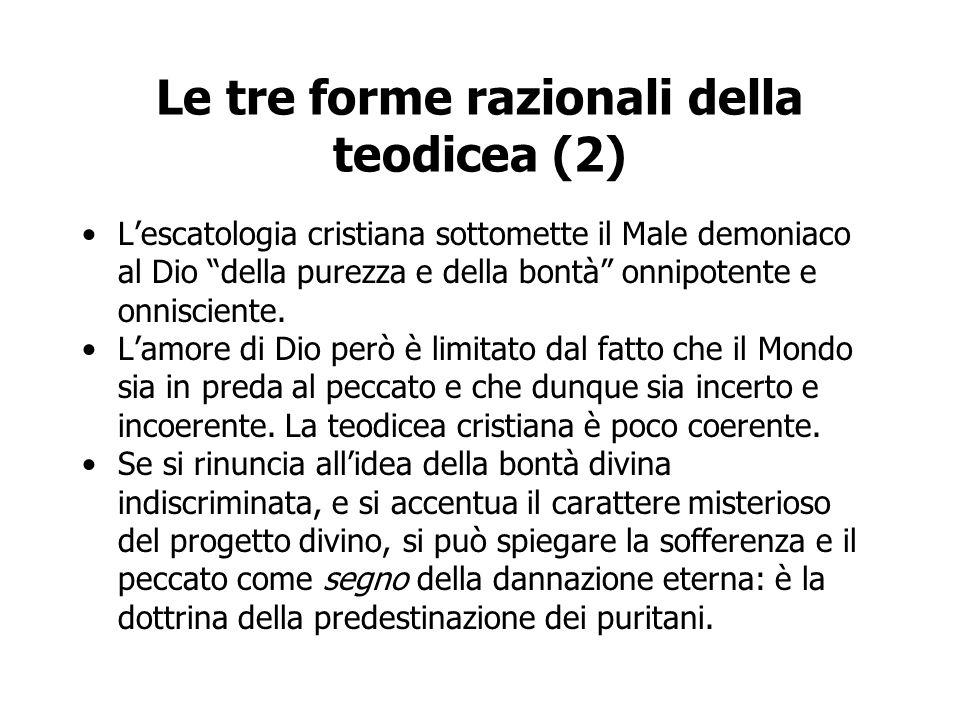 Le tre forme razionali della teodicea (2)