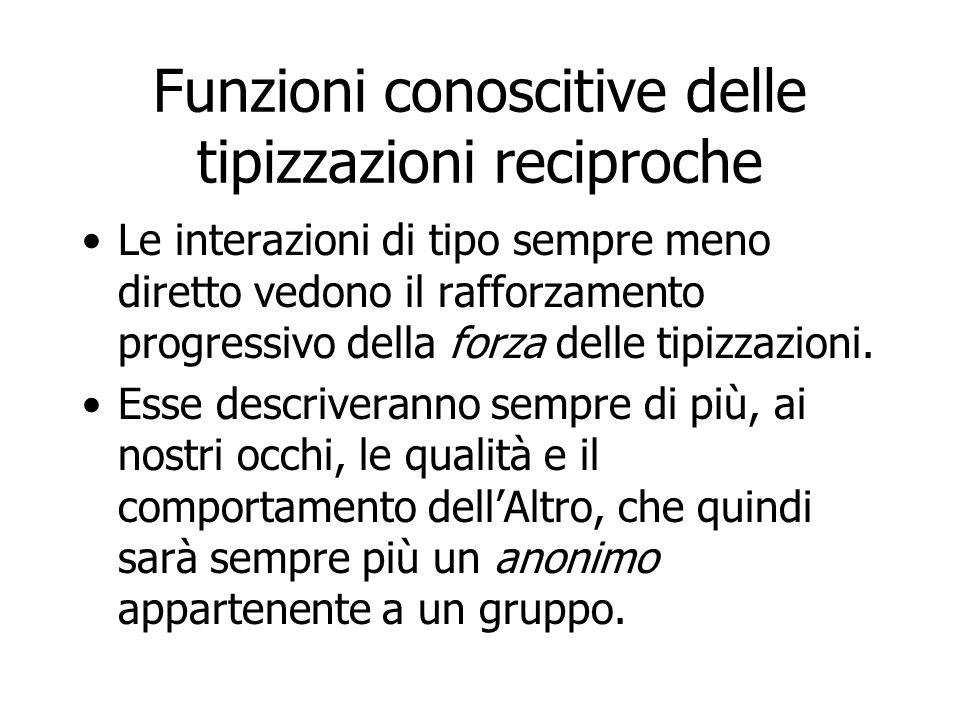 Funzioni conoscitive delle tipizzazioni reciproche