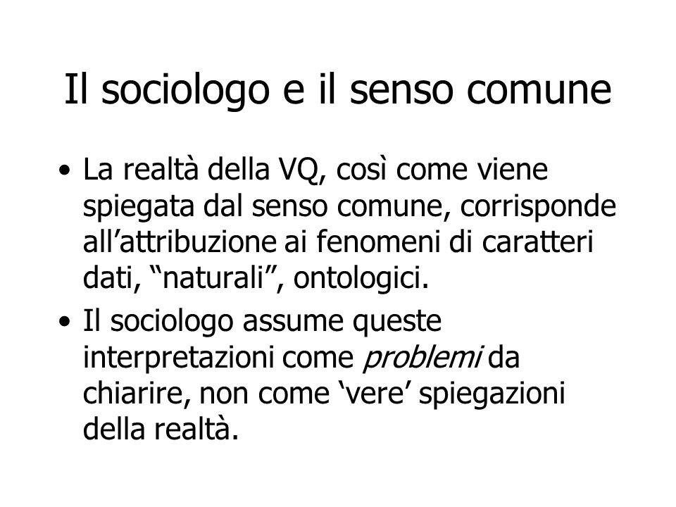 Il sociologo e il senso comune