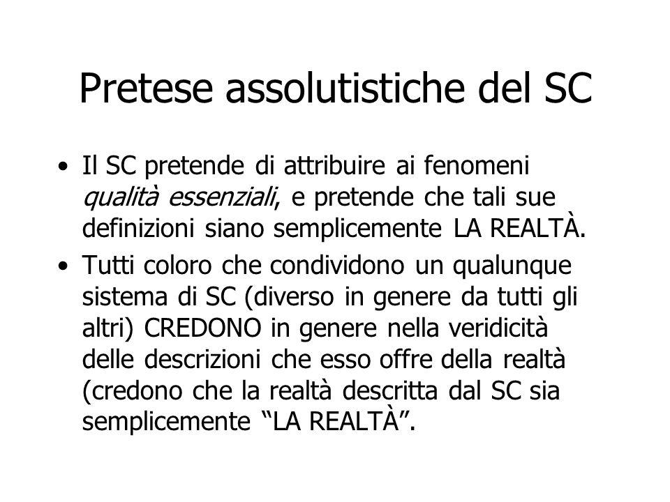 Pretese assolutistiche del SC