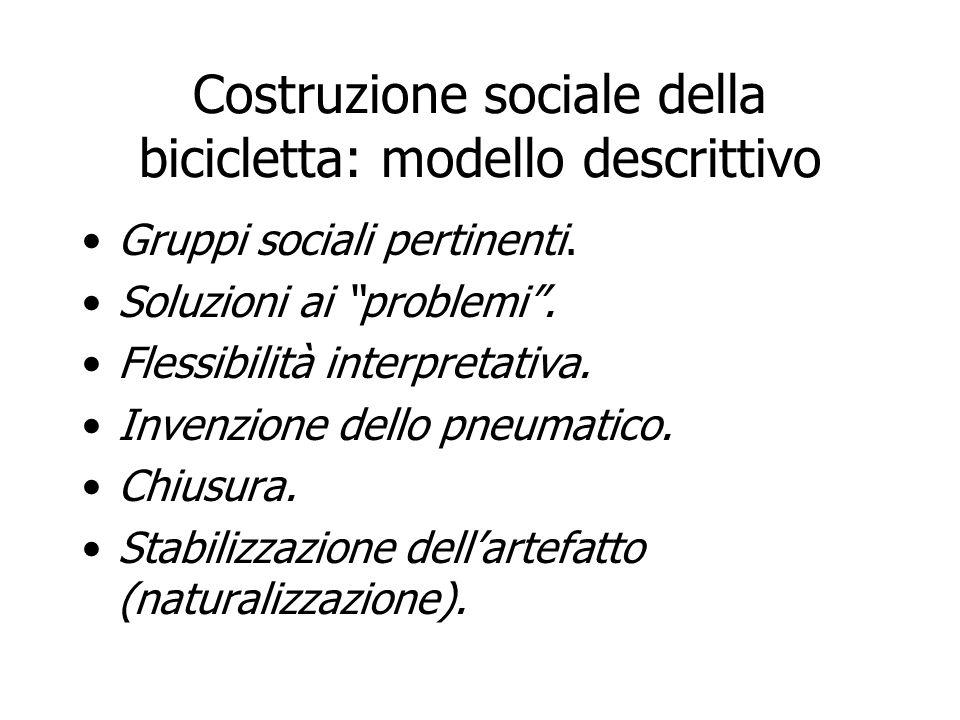 Costruzione sociale della bicicletta: modello descrittivo