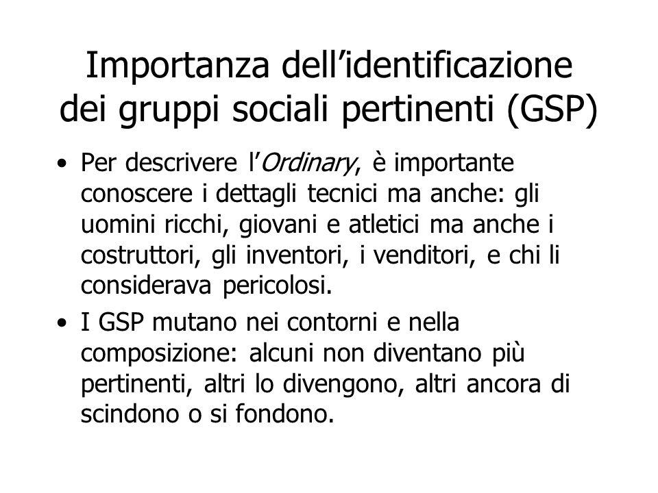 Importanza dell'identificazione dei gruppi sociali pertinenti (GSP)