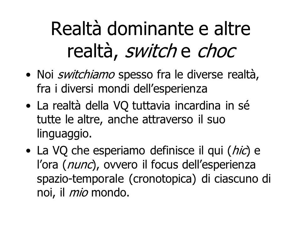 Realtà dominante e altre realtà, switch e choc