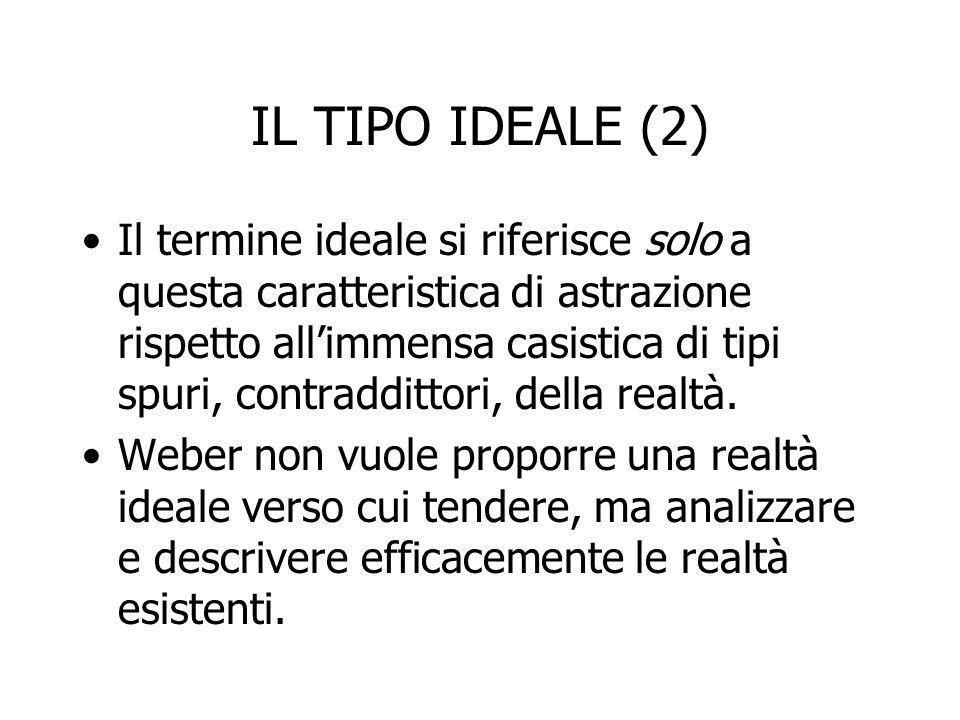 IL TIPO IDEALE (2)