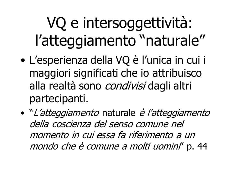 VQ e intersoggettività: l'atteggiamento naturale