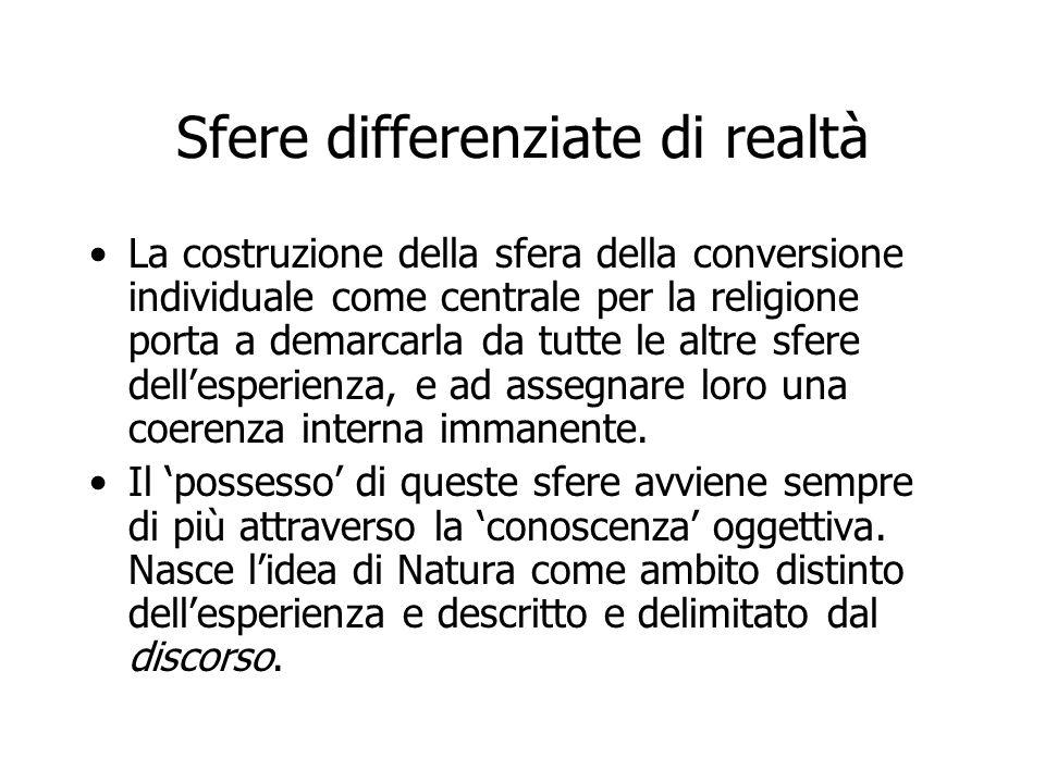 Sfere differenziate di realtà