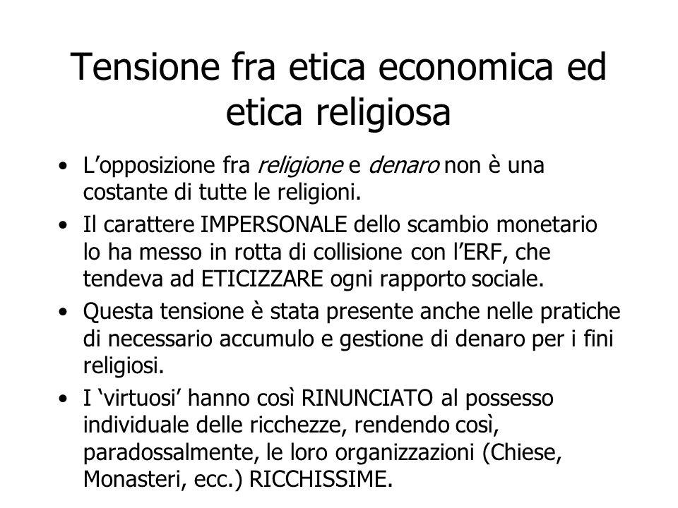 Tensione fra etica economica ed etica religiosa