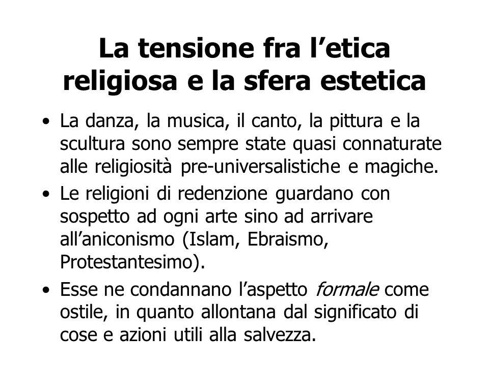 La tensione fra l'etica religiosa e la sfera estetica