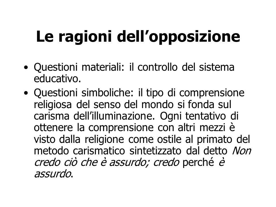 Le ragioni dell'opposizione