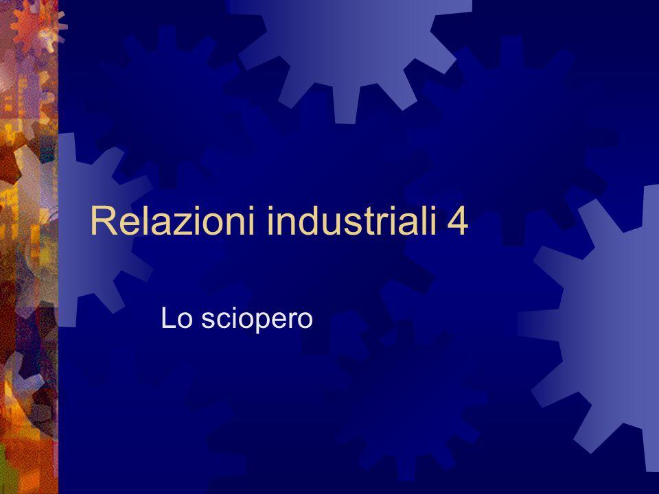 Relazioni industriali 4