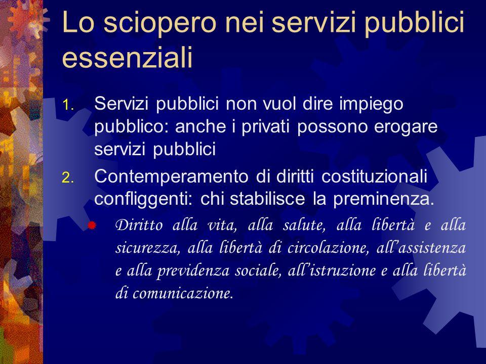 Lo sciopero nei servizi pubblici essenziali