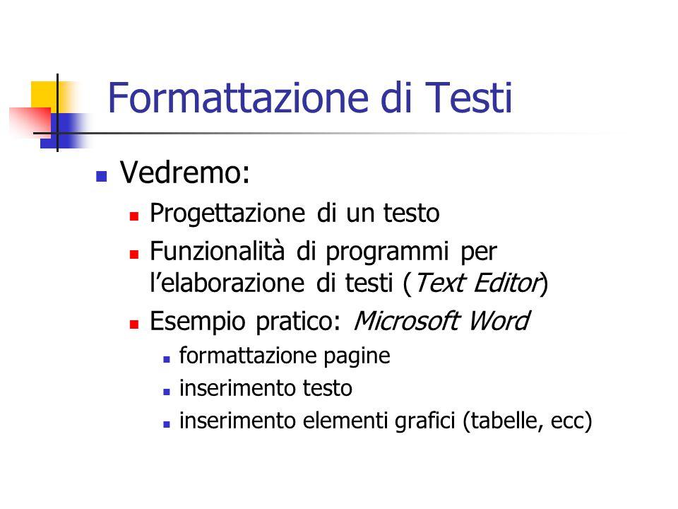 Formattazione di Testi