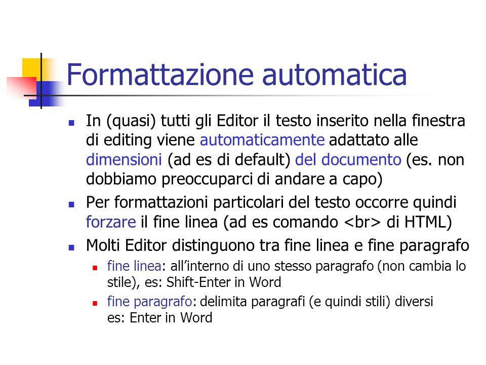 Formattazione automatica