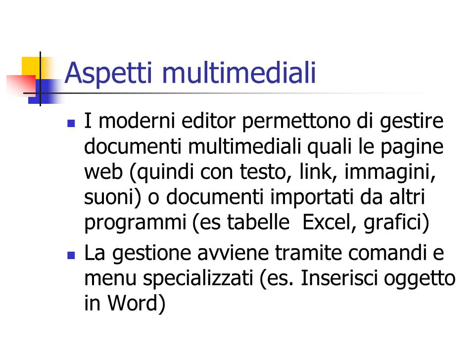 Aspetti multimediali