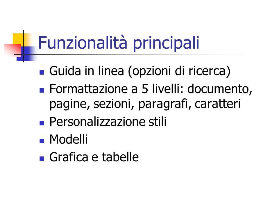 Funzionalità principali