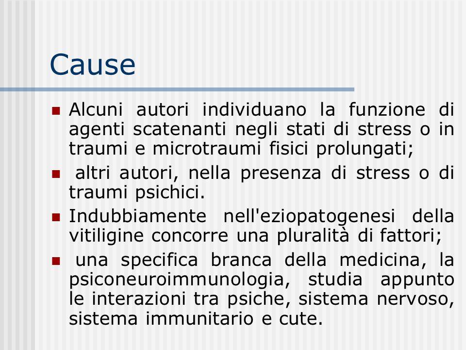 Cause Alcuni autori individuano la funzione di agenti scatenanti negli stati di stress o in traumi e microtraumi fisici prolungati;