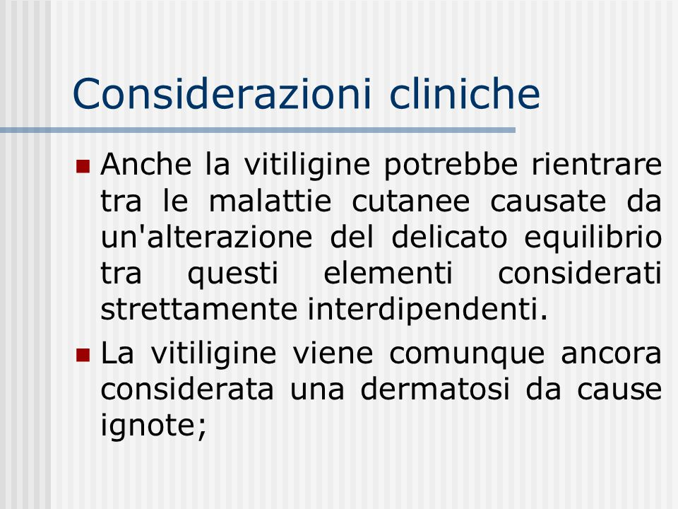 Considerazioni cliniche