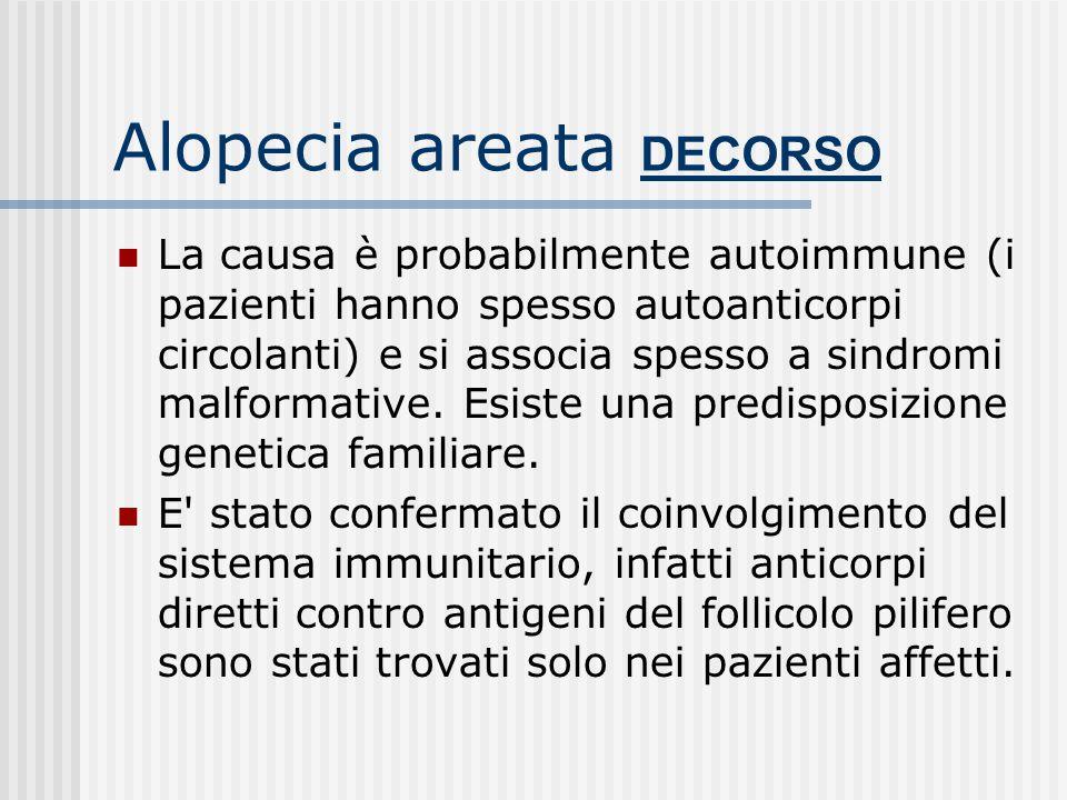 Alopecia areata DECORSO