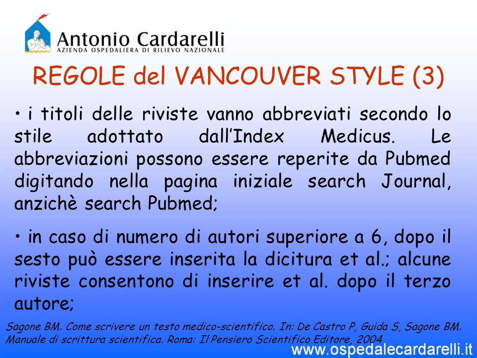 REGOLE del VANCOUVER STYLE (3)