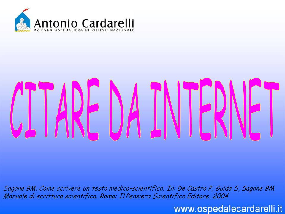 CITARE DA INTERNET