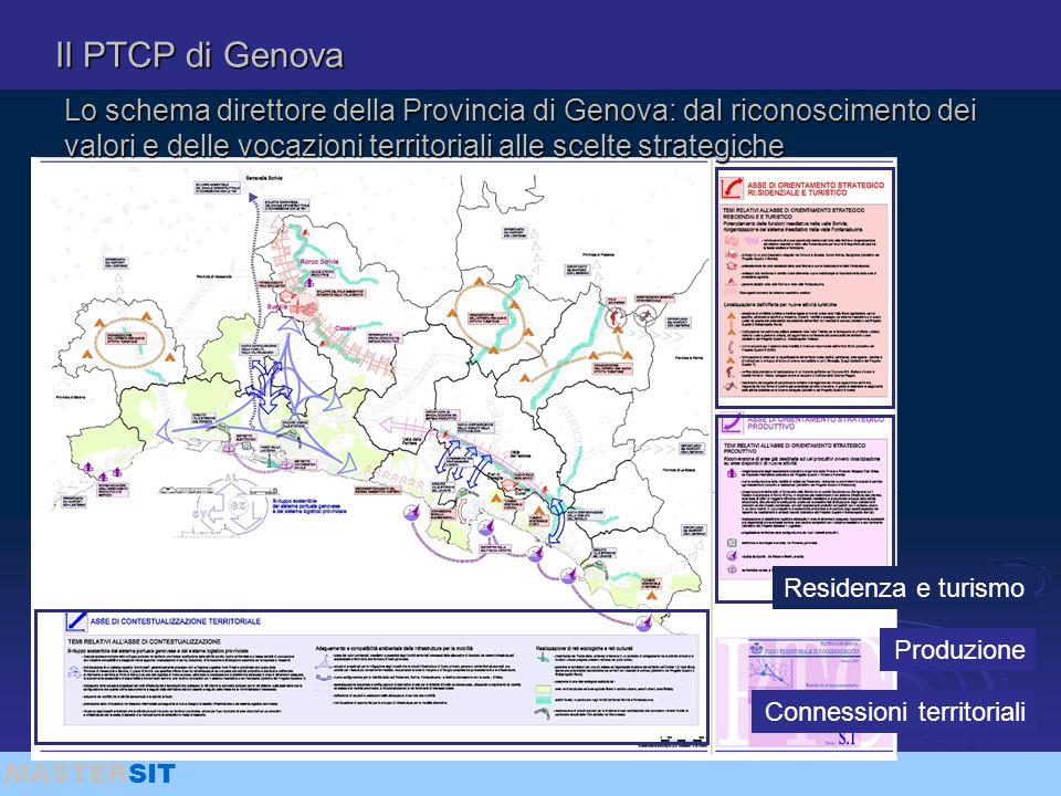 Il PTCP di Genova Lo schema direttore della Provincia di Genova: dal riconoscimento dei valori e delle vocazioni territoriali alle scelte strategiche.