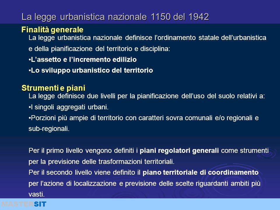 La legge urbanistica nazionale 1150 del 1942