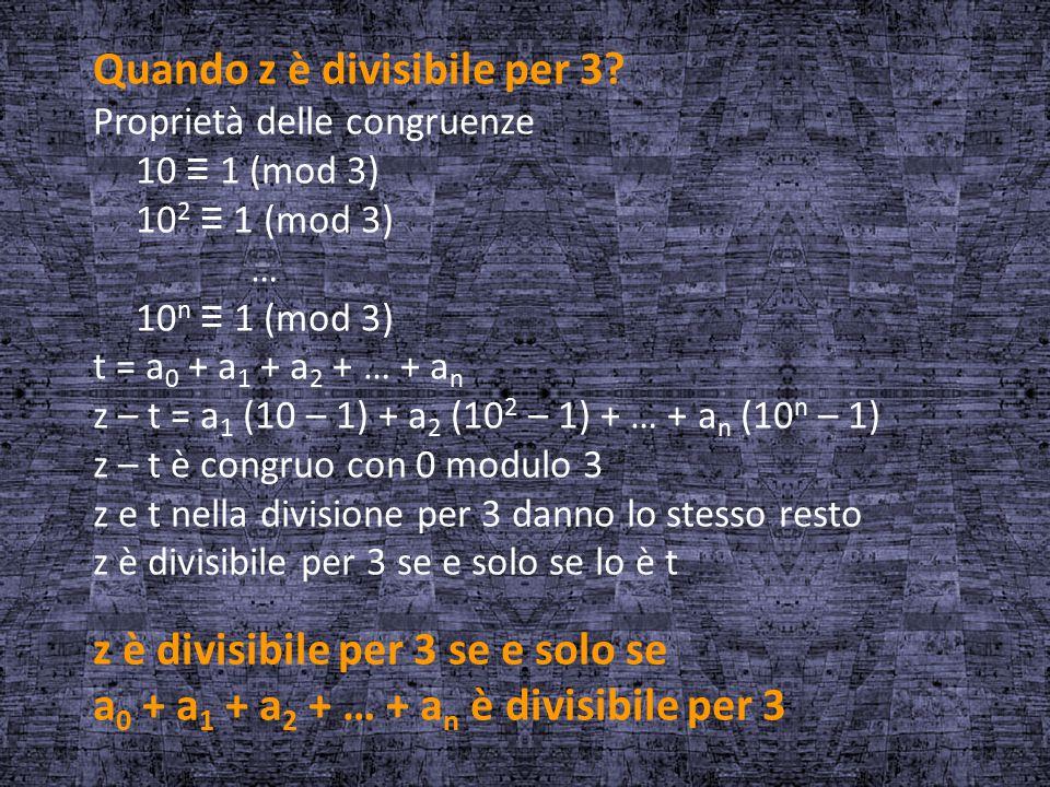 Quando z è divisibile per 3