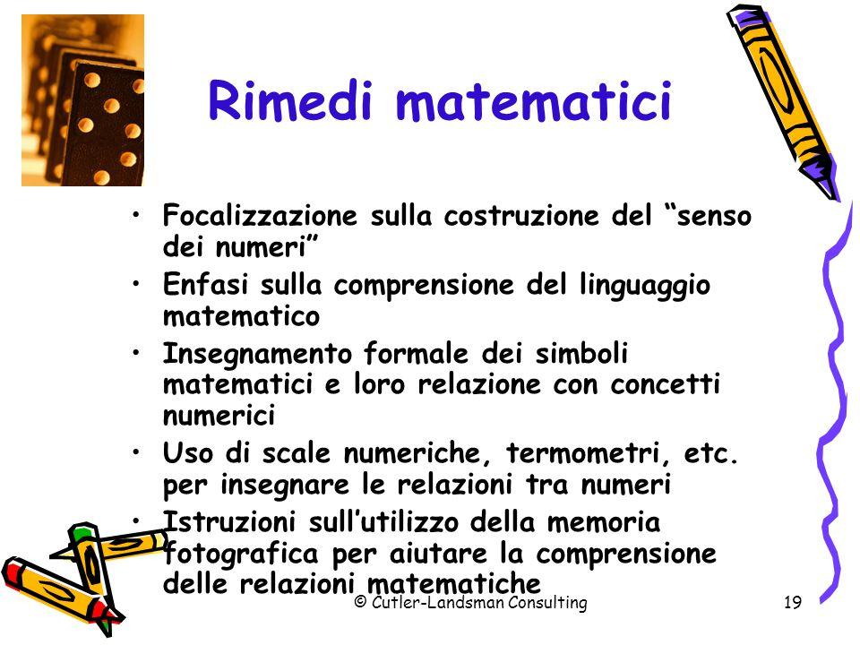 Rimedi matematici (segue)