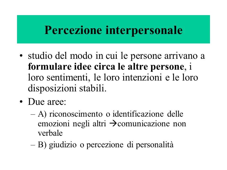 Percezione interpersonale
