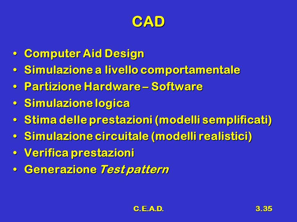 CAD Computer Aid Design Simulazione a livello comportamentale